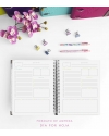 Agenda de Trabajo Tricolor Rosa Tamaño A5