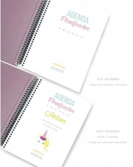 Agenda Personal Tricolor Rosa Tamaño A5