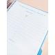 Diario Azul Purpurina Combinado