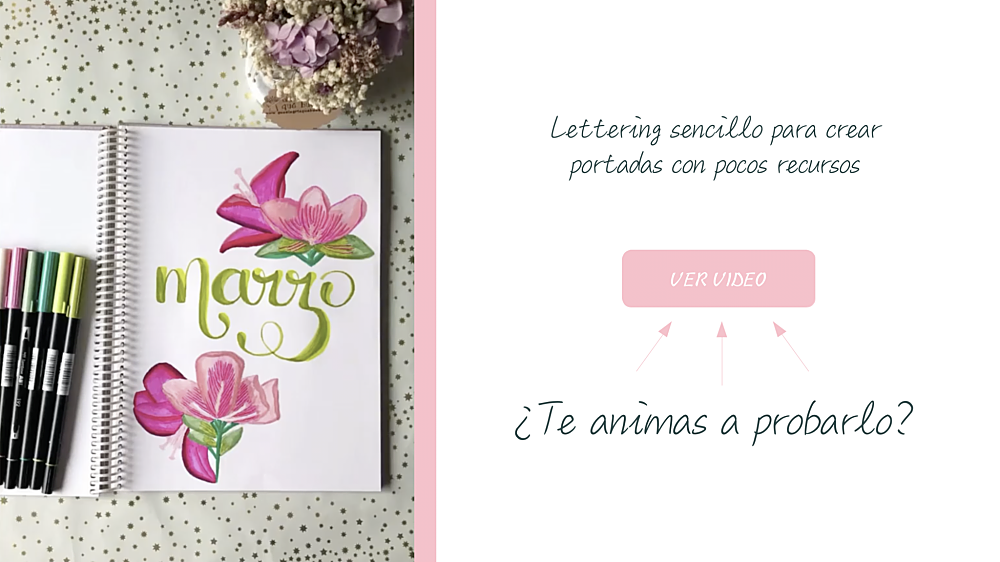 Lettering sencillo con rotuladores